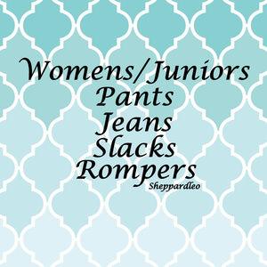 Womens/Juniors Pants, Jeans, Slacks, Shorts, Etc.
